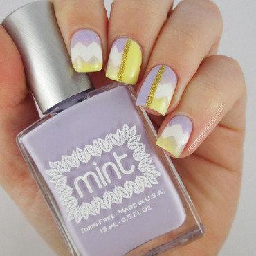 Nail art chevrons pastel nail art by Restons polish