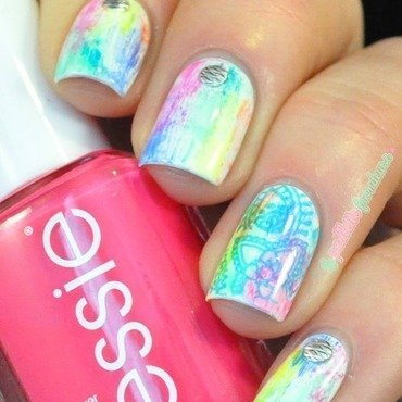 holi spring celebration nail art by nathalie lapaillettefrondeuse