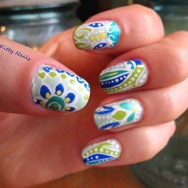 Spring has Sprung nail art by Jenna
