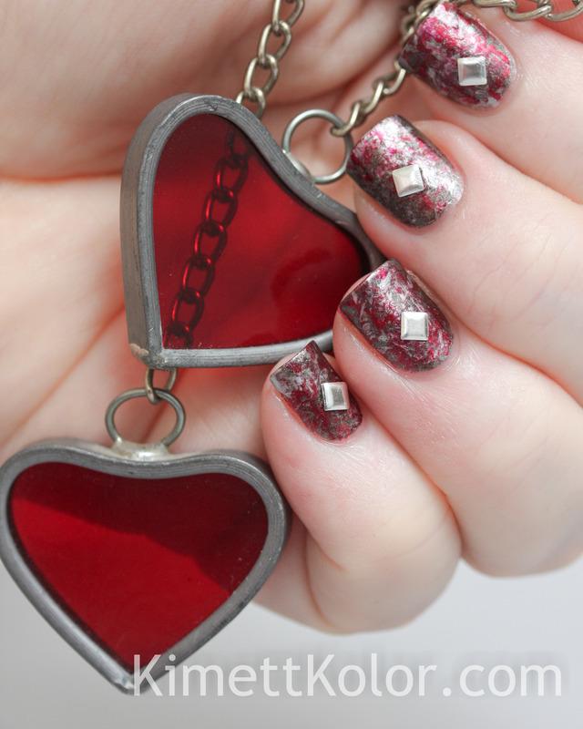 Love and Steel nail art by Kimett Kolor