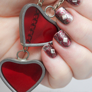 Love and Steel nail art by Kimett Kolor