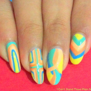 Mix Rainbow  nail art by Arnolin Modokh