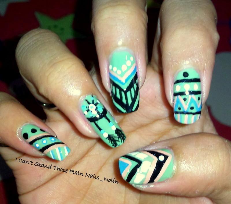 Tribal VS Dreamcatcher  nail art by Arnolin Modokh