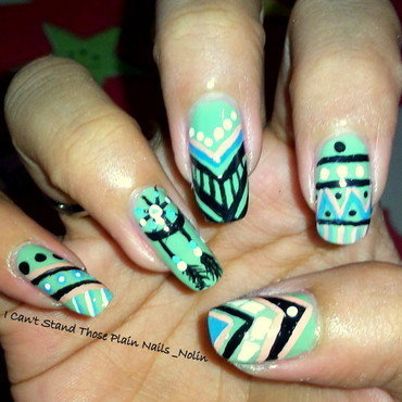 Tribal VS Dreamcatcher  nail art by Arnolin Modokh