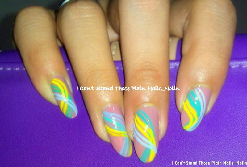Rainbow Thread  nail art by Arnolin Modokh