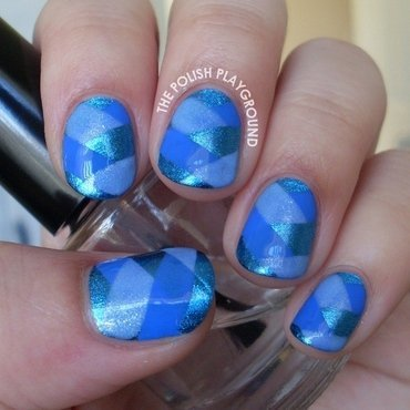 Blue fishtail braided nail art thumb370f