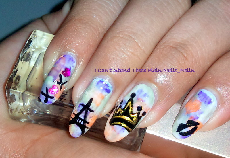 Romantic Eiffle nail art by Arnolin Modokh