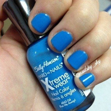 Sally Hansen Xtreme Wear Blue Me Away Swatch by Sky Williams