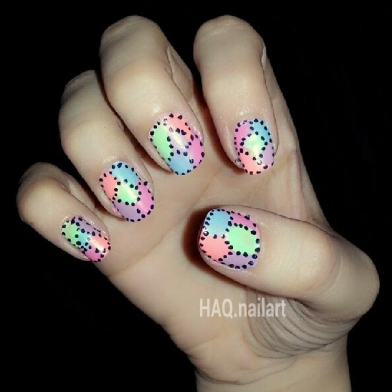 COLORFUL matte nail art by Haqnailart