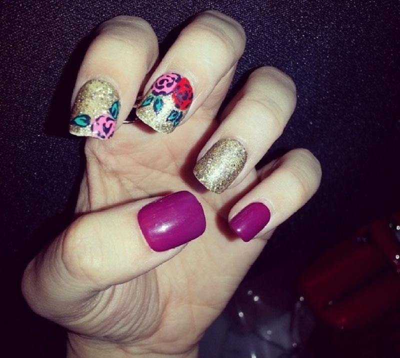 glitter  nail art by Haqnailart