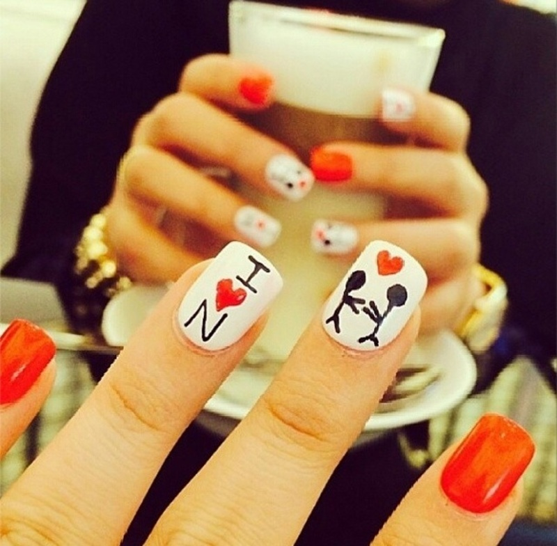 love nail art by Haqnailart