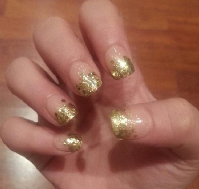 glittery nail art by Haqnailart