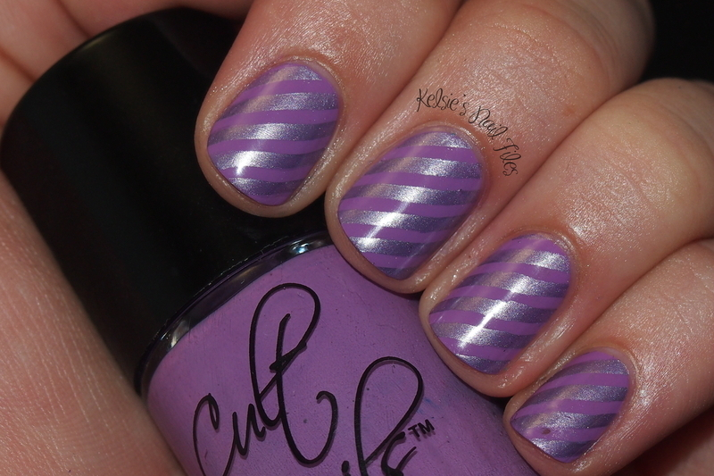 Love at First Stripe nail art by Kelsie