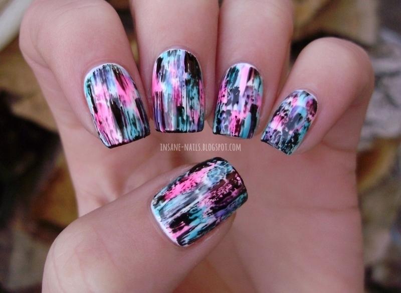 Distressed nails nail art by Sanela