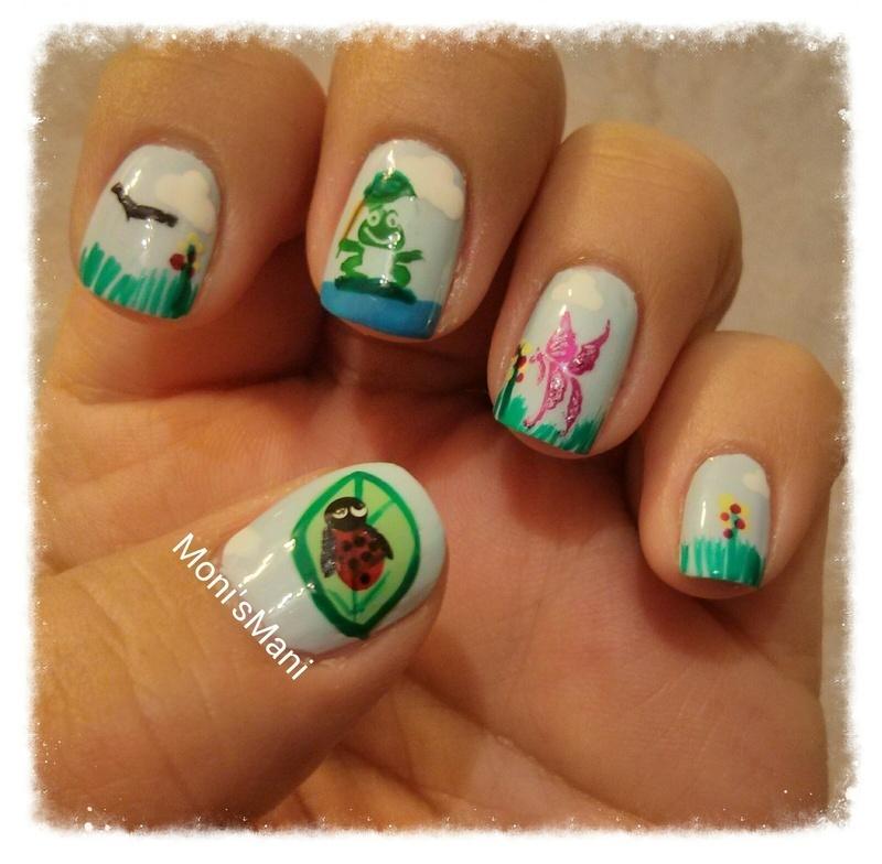 spring time nail art by Moni'sMani