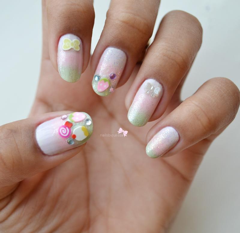 Sweet Candy nail art by Julissa Lemoine