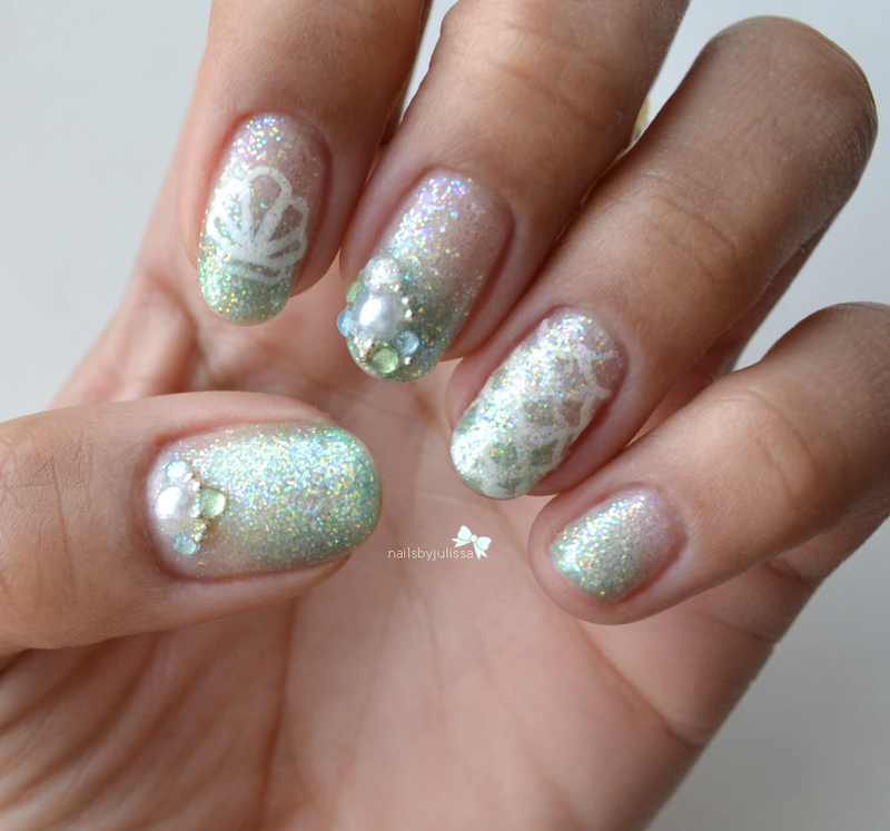 Mermaid Inspired nail art by Julissa Lemoine - Mermaid Inspired Nail Art By Julissa Lemoine - Nailpolis: Museum