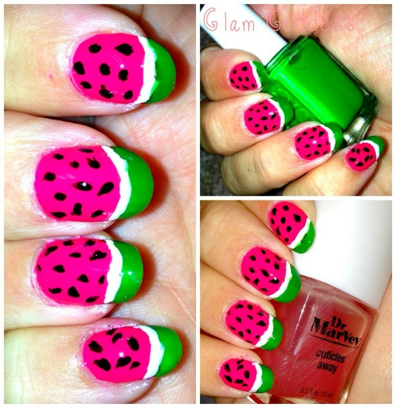 Watermelon Nails nail art by Britney