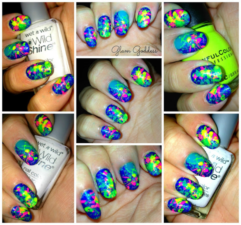 Paint Splattered  nail art by Britney