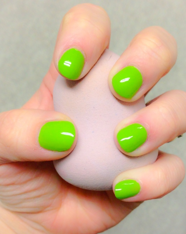 Lime Green nail art by Britney