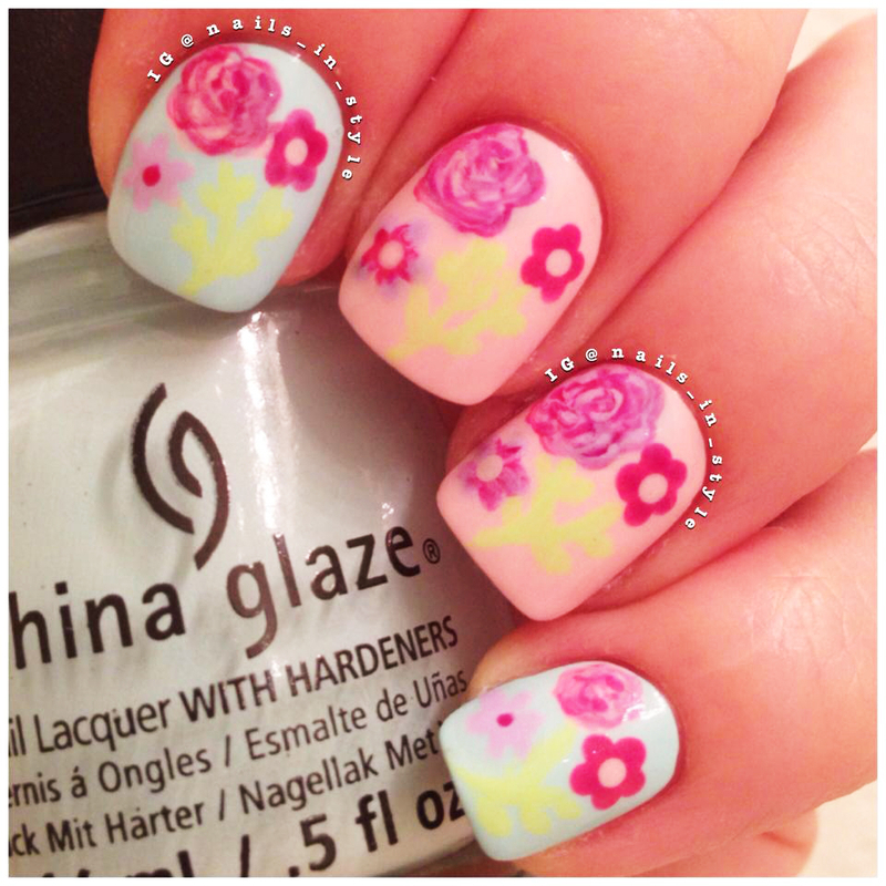 Spring Flowers nail art by Nails_In_Style