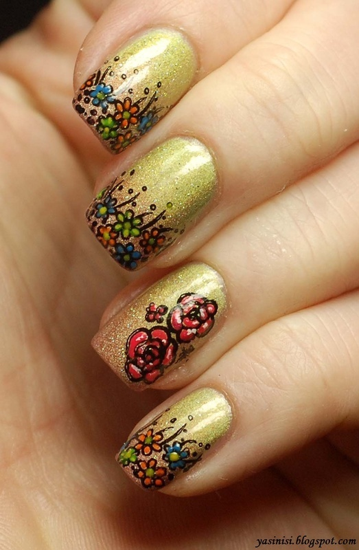 Spring is coming :) nail art by Yasinisi