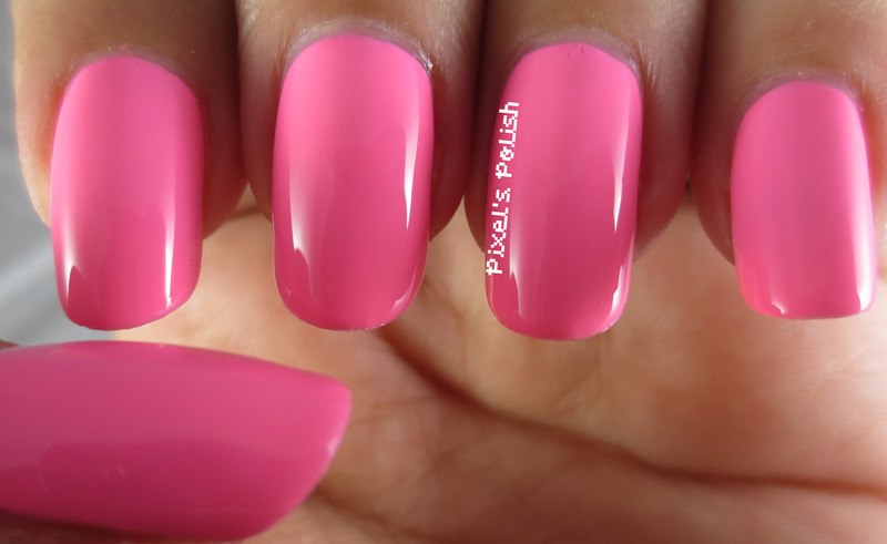Color Club flamingo Swatch by Pixel's Polish