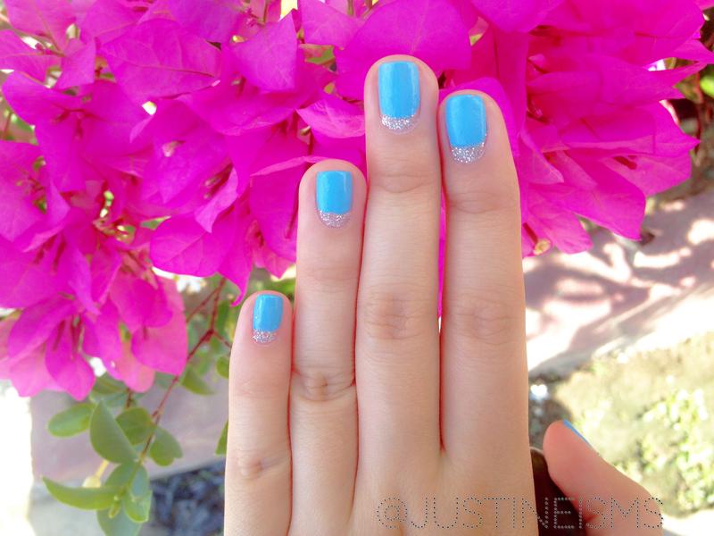 Reverse Tip nail art by ℐustine
