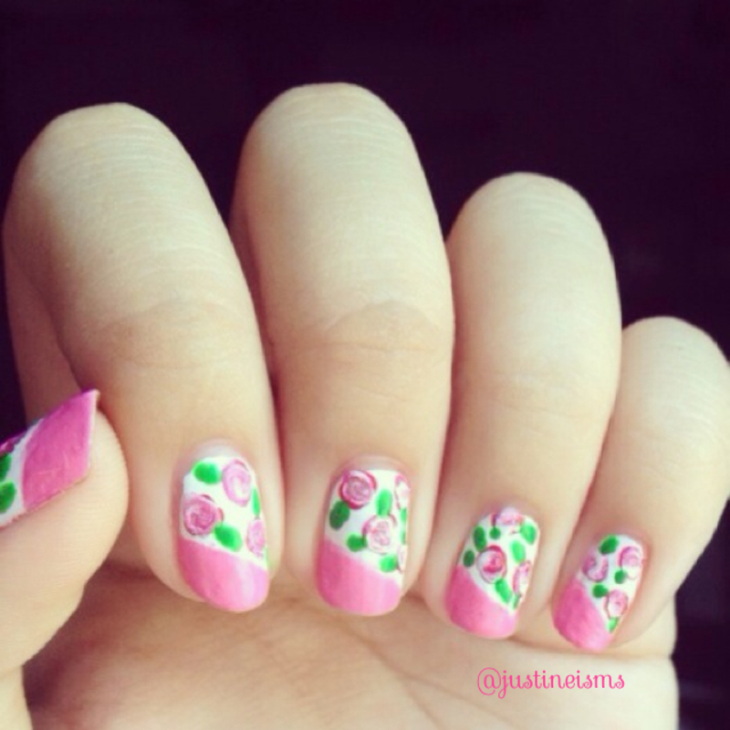 Floral nail art by ℐustine
