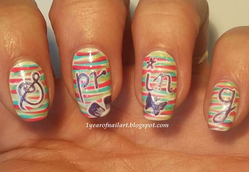 Spring nail art by Margriet Sijperda