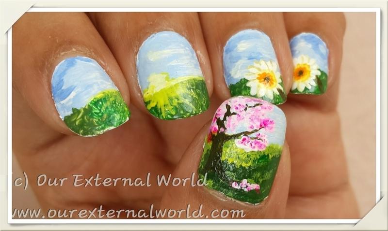 Elegant My Spring Garden Nail Art By Shilpa Gandotra