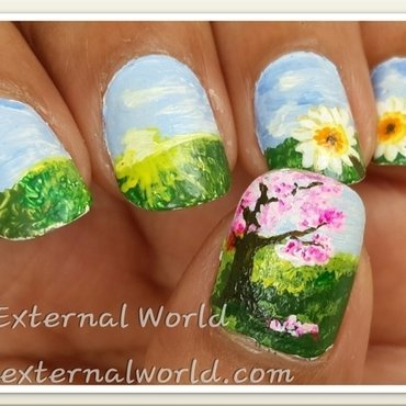 My Spring Garden nail art by  Shilpa  Gandotra