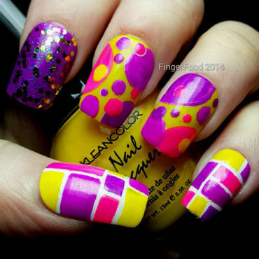 A Neon Skittlette nail art by Sam