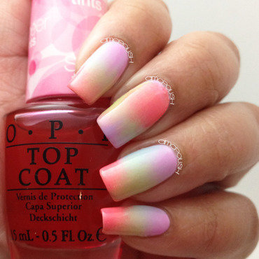 Spring Gradient nail art by Amber Connor