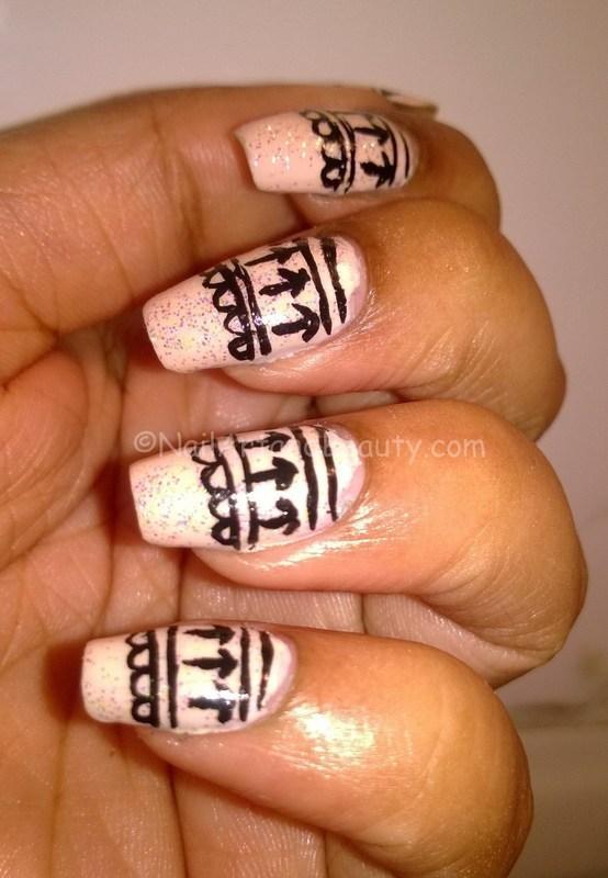 Lace Nail Art nail art by Setu Rohini