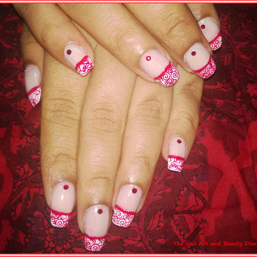 Elegant french red nail art 3 thumb370f