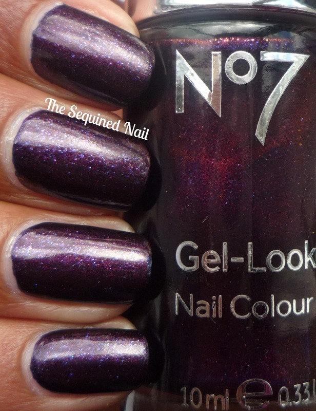 No7 Gel-Look Galaxy Swatch by TheSequinedNail