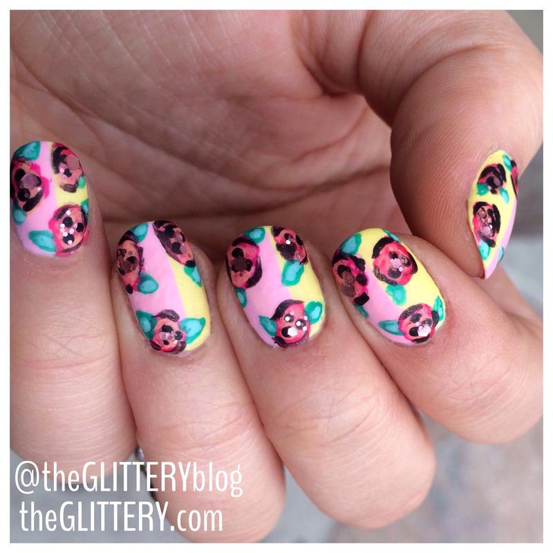 matte spring florals!  nail art by Ari  Fund