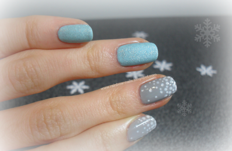 Winter nail art by Oliwia