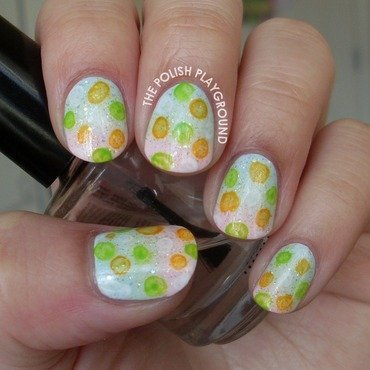 Bubble print gradient nail art thumb370f