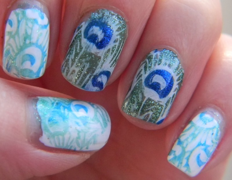 Don't Get Peacocky nail art by Polishfreshie