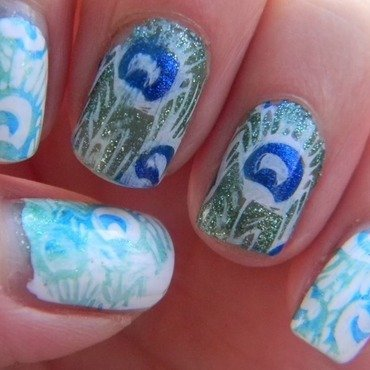 Don't Get Peacocky nail art by Polishfreshie