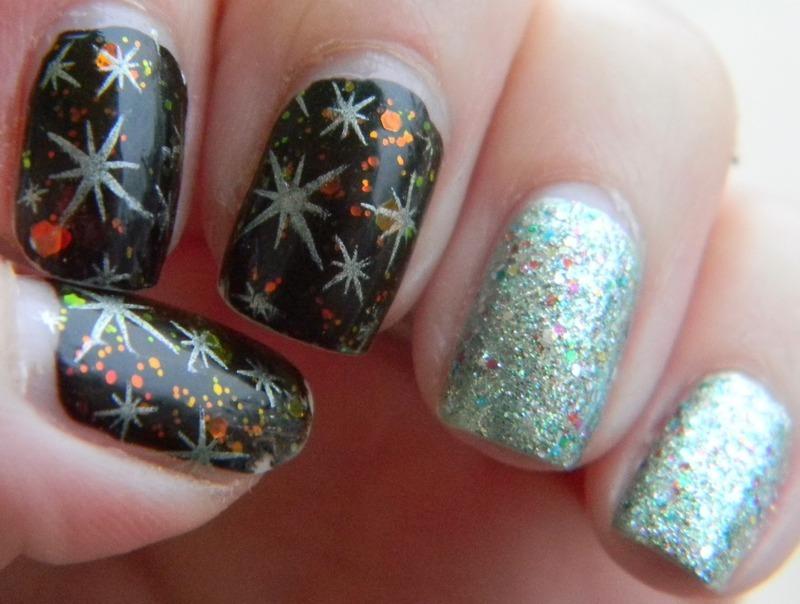 Starry Night nail art by Polishfreshie