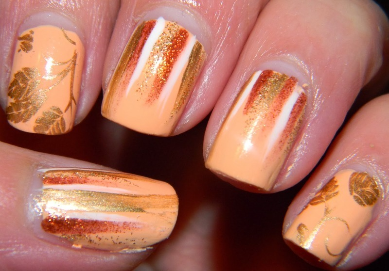 Autumn Waterfall nail art by Polishfreshie