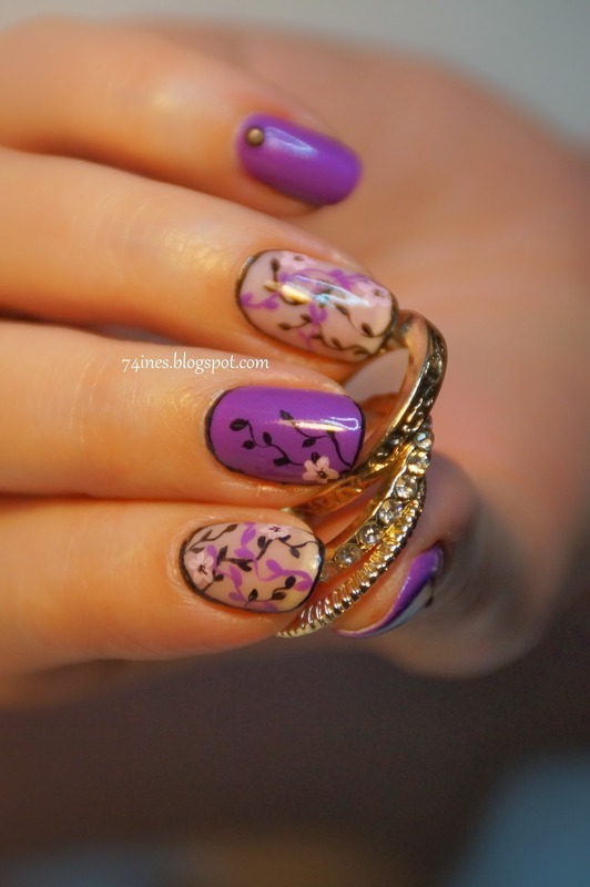 springtime nail art by 74ines