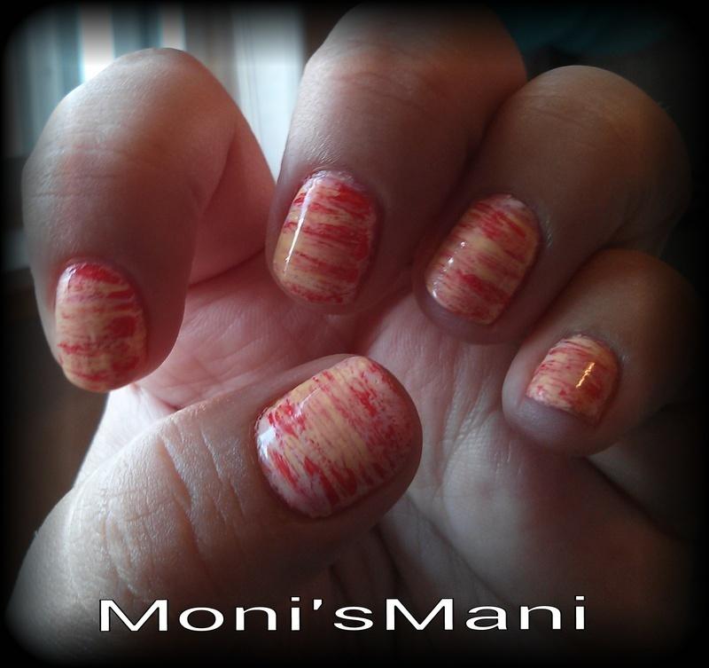 Fanned yellow and orange  nail art by Moni'sMani