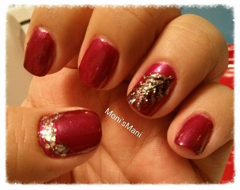 feather nail art by Moni'sMani