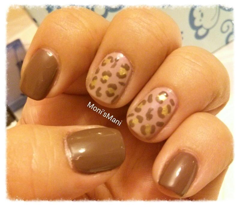 leopard print nail art by Moni'sMani
