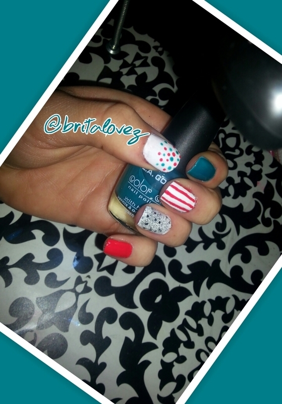 Circus nail art by britalovez