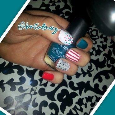 Circus nail art by britalovez